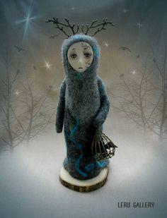 Twilight. Spirit of Mystic forest. Art fantasy doll. Needle