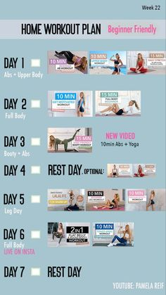 pamela reif workouts week 11 in 2020  fitnessübungsplan