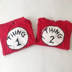 Thing 1 & Thing 2 Couple's Hoodie In great condition. Gently worn once Perfect for vacation Thing 1- Size M, Thing 2- Size S Tops Sweatshirts & Hoodies