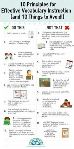 10 #Vocabulary Dos and Don'ts #education