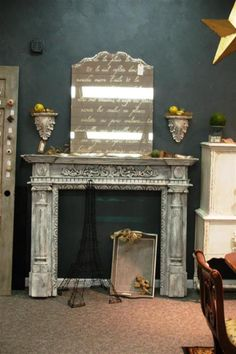 love my newest chalk/clay paint creation  http://fabulousfinishes.wordpress.com/2013/07/09/a-fireplace-mantle-transformed-the-chalk-and-clay-paint-way/  shop.fabfinisher.com ~  I need one