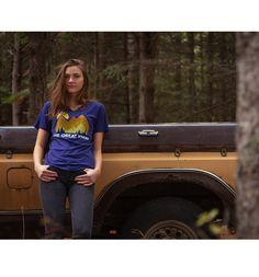 Expedition Tee #pnw #upperleftusa #thegreatpnw #pacific #northwest #apparel #tshirt #shirts #fashion #risingsun #mountains #trees #outdoors #emilyhall #model #ford