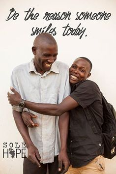 Paul  Eric are two of the Sole Hope employees in Jinja, Uganda. These two are always good for making others smile and lighten up a tough day. #MeetTheStaff #Uganda {photo: Morgan Judge}