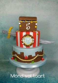 Pirate cake - Cake by Mond vol taart