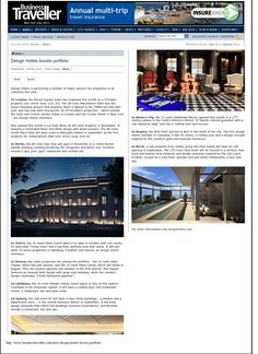 Business Traveller, UK, has mentioned The Park Kochi, Kerala in their article on hotels that are driven by design.