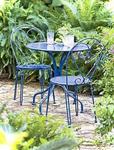 Awesome Vintage Garden Furniture Ideas Outdoor Living is part of Outdoor patio set Gardens are the outdoor spaces that we love visiting often times in a single day People who love gardens go to - Outdoor Rooms, Outdoor Gardens, Outdoor Living, Outdoor Decor, Patio Furniture Sets, Furniture Ideas, Furniture Design, Blue Garden Furniture, Vintage Outdoor Furniture