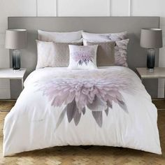 Buy Karl Lagerfeld Adahli Floral Duvet Cover - Purple We've got top products at great prices including fashion, homeware and lifestyle products. Free delivery available Floral Bedding, Linen Bedding, Bed Linen, Comforter, 100 Cotton Duvet Covers, Toddler Girl Bedding Sets, Luxury Bedding Collections, Luxury Decor, Duvet Sets