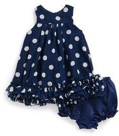Pippa & Julie Polka Dot Dress & Bloomers (Baby Girls)