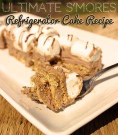 Ultimate S'mores Refrigerator Cake #Recipe #smoressmiles