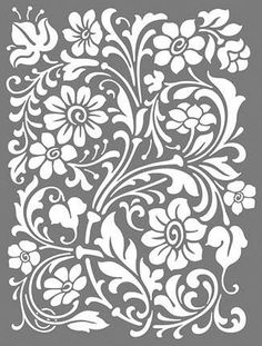 Stencil Decor, Stencil Painting, Stenciling, Stencil Patterns, Stencil Designs, Stencil Templates, Pyrography, Textures Patterns, Mandala