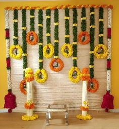 Look at this essential photo in order to look at the shown guidance on Marriage Decoration Ideas Wedding Hall Decorations, Diwali Decorations, Backdrop Decorations, Festival Decorations, Backdrops, Garland Wedding, Decor Wedding, Wedding Entrance, Wedding Mandap