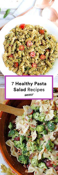 Com/Eat/Healthy-Pasta-Salad-Recipes cold pasta salads, pasta Healthy Pasta Salad, Vegetarian Salad Recipes, Healthy Pastas, Healthy Recipes, Vegan Pasta, Healthy Foods, Cooking Recipes, Vegetable Lunch, Vegetable Recipes