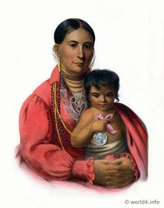 Osage mother and child.