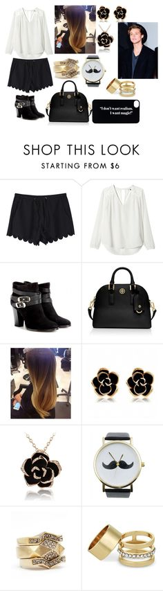 """""""Going to dinner for Ashton birthday (read d)"""" by hernandezjenni ❤ liked on Polyvore featuring Rebecca Taylor, Jimmy Choo, Tory Burch, Sam Edelman and MOOD"""
