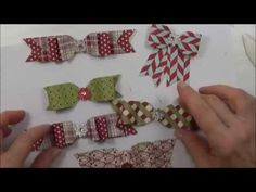 Crafty and Creative Ideas: 6 Different Bows Made With Stampin Up Envelope Punch Board