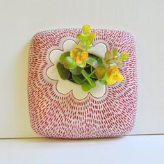 Ready to Ship Ceramic/ Pottery Wall Planter/ Wall by chARiTyelise