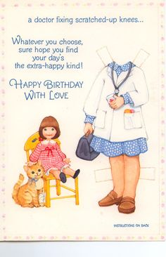 Becky Sue Paper doll card 1981 #5