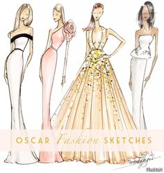 Dress Designing Sketches 2016-2017 – 24Fashion