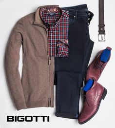 The #plaid #shirt may be the #solution for #men who want to pigment their #casual or #smart casual #outfits . As with #other #prints , the #key to #success #lies in #keeping #neutral the other #elements . #Products #available in #Bigotti #men #clothing #stores and on www.bigotti.ro
