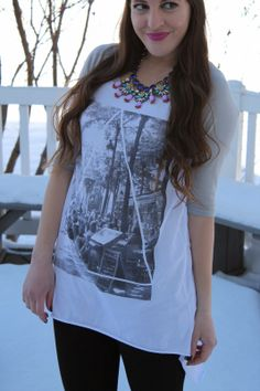 Love graphic tees and black leggings! Throw a leather jacket over it and good to go,