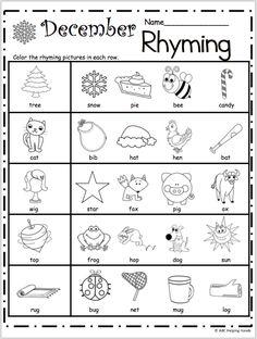 rhyming words match  rymingwordsmatch  pinterest  rhyming words  free kindergarten rhyming worksheets for december