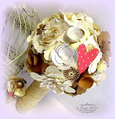 MagicArt / Babičkine dedičstvo pre Nevestu a Ženícha... Paper Flowers, Bouquet, Gift Wrapping, Gifts, Vintage, Jute, Gift Wrapping Paper, Presents, Bouquets