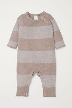 Fine Knit Overall | Beige/striped | KIDS | Hu0026amp;M US Kids