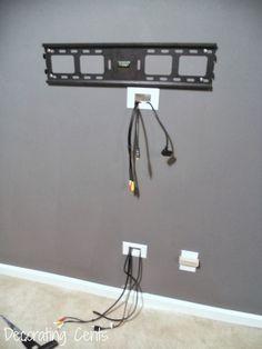 20 low budget ideas to make your home look like a million bucks rh pinterest com hide tv wiring in wall hide tv wiring in wall