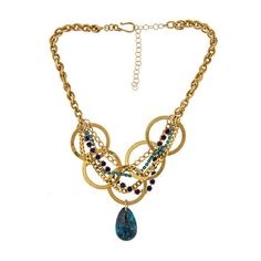 Annie Hammer Vintage Malocite Necklace ❤ liked on Polyvore