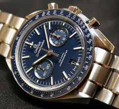 Omega Speedmaster Co-Axial Chronograph Titanium Blue Watch Hands-On