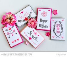 So Much Love, Mini Note Die-namics - Kay Miller  #mftstamps