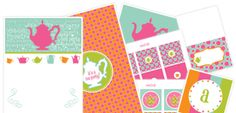 Tea party printable and MORE! ENJOY! -LH
