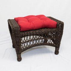 Ottoman - Veranda Red | Outdoor | Carolina Pottery Red Ottoman, Outdoor Furniture, Outdoor Decor, Vanity Bench, Space Saving, Modern Interior, Outdoor Living, Pottery, Room
