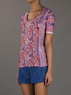 Isabel Marant Paisley Print Tshirt in Multicolor (red) - Lyst