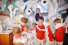 Stress Mother Watching Kids Make a Mess by Angela Waye