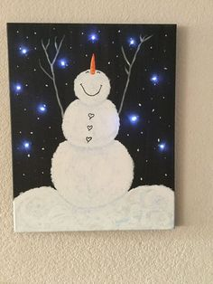 Mom pokes holes through a canvas using an ice pick, but when she turns it over... best Christmas gift idea!