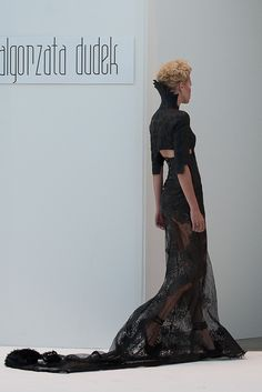 Malgorzata Dudek 'Arachne' SS 2013 back,   Super sexy manipulated piece of fabric!