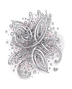 Mooka, of course by Daniele OBrien Design, Certified Zentangle Teacher
