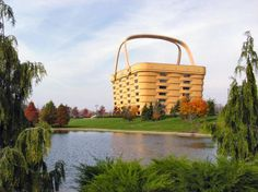 Would you believe this eye-catching building is the head office of The Longaberger Company in Newark, Ohio....a basket manufacturer!