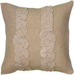 42 lainie crochet pillow a neutral toss pillow with handcrafted charm item 23056 home decorators - Home Decoratorscom