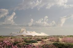 """Libyan War Museum of Conflict  Its dramatic name reflects a museum of Libyan history and national story for locals and internationals. The tented or origami-like structure houses permanent and special exhibitions to """"educate future generations on the price of conflict."""" Architects of the London-based, Metropolitan Workshop won a competition to design the museum close to the Hall of the People in Tripoli.  http://kudos1.net/amazing-architecture-of-the-middle-east"""