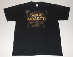 AMON AMARTH Pure Viking Double Sided Black T Shirt L LARGE Band Death Metal  #Anvil #GraphicTee