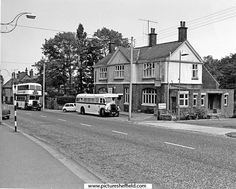 Mobile library outside the Rising Sun Inn, Fulwood Road, Nether Green Mobile Library, Old Photos, Nice Photos, Double Decker Bus, My Town, Classic Mini, Sheffield, Yorkshire, Sunrise