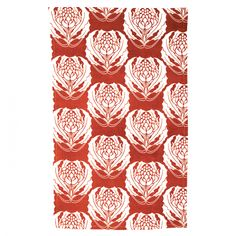 contemporary Australian-designed Red Waratah tea towel