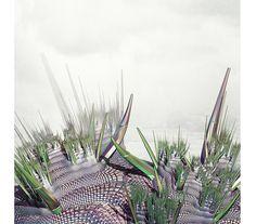 Cactus Landscape Digital Print. Futuristic Art. by ILKADesign
