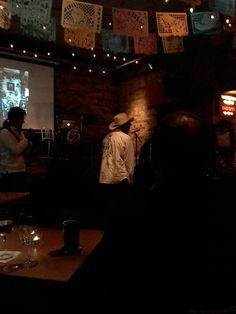 Alec Dempster at the launch of his book Lotería Huasteca at the Gladstone Hotel on November 2, 2015. Photo by Tim Inkster.