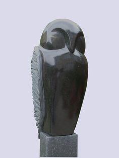 Peer van Gennep - steen - uil
