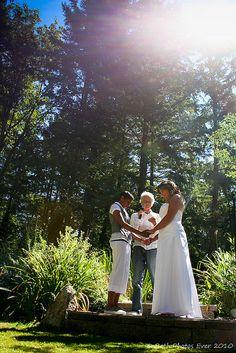 Chanelle & Julie's two-bride backyard BBQ wedding