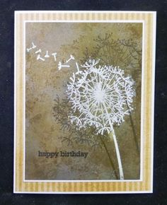 *IC421 Dandelion Birthday by hobbydujour - Cards and Paper Crafts at Splitcoaststampers