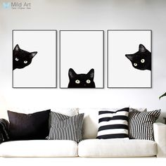 Was your dad right when he told you to Discount 45% Original Price US $7.00 3 Piece Black Cats Head Modern Cute Animal Canvas A4 Print Poster Nordic Wall Art Picture Painting No Frame Kids Room Home Decor better? #Painting#Calligraphy